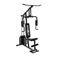 Klarfit Strongbase, többfunkciós edzőállomás, csigás gép, 100 lb/45 kg, 3 csiga, fekete