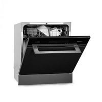 Klarstein Amazonia 8 Myst, beépíthető mosogatógép, 6 program, nemesacél, fekete