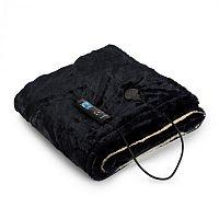 Klarstein Dr. Watson SuperSoft, melegítő takaró, 120 W, 180 x 130 cm, Teddy mikroplüss, bézs/ kék