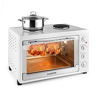 Klarstein Masterchef 60 mini sütő, 2500 W + 1600 W, 60 liter, rozsdamentes acél, fehér