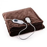 Klarstein Sherlock M melegítő takaró, 120 W, mosható, 150x100 cm, mikroplüss, barna