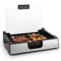 Klarstein Showmaster asztali grill, 1500 W, max. 250 °C, üveg fedél