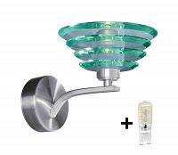 TOP LIGHT LED Szabályozható fali lámpa NEPTUN A/K 1xG9/5W/230V + 1xG9/40W