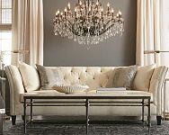 Luxus kristály csillárok a nappaliba, hálószobába és modern konyhába