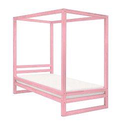 Baldee rózsaszín fa egyszemélyes ágy, 200 x 90 cm - Benlemi