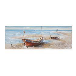 Barca Group kézzel festett kép fenyőfa keretben, 150 x 50 cm - Mauro Ferretti