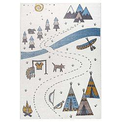 Beige világos szőnyeg indiános mintával, 160 x 230 cm - KICOTI