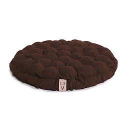 Bloom sötétbarna ülőpárna masszázsgolyókkal, Ø 65 cm - Linda Vrňáková