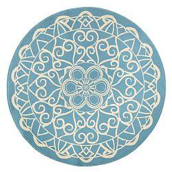 Capri kék, kerek szőnyeg, ø 140 cm - Zala Living