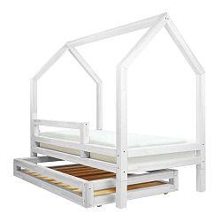 Funny ágy alá helyezhető fehér fiók, 4 lábbal, 80 x 160 cm - Benlemi