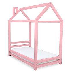 Happy rózsaszín fenyő gyerekágy, 120 x 200 cm - Benlemi