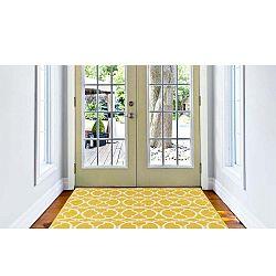 Interlaced sárga fokozottan ellenálló szőnyeg, 160 x 230cm - Floorita