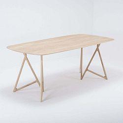 Koza tömör tölgyfa étkezőasztal, 200 x 90 cm - Gazzda