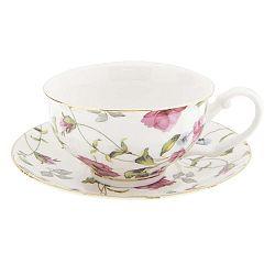 Lorenna porcelán csésze és alátét - Clayre & Eef
