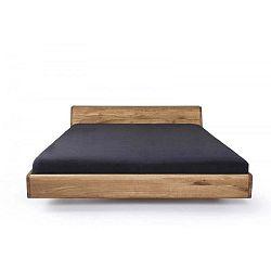Lugo viaszkezelt tölgyfa ágy, 120 x 220 cm - Mazzivo