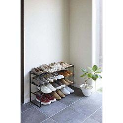 Maebashi fekete cipőtartó, 3 szintes - YAMAZAKI
