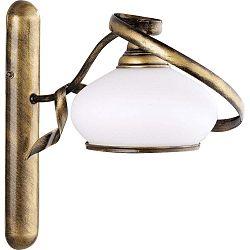 Retro fali lámpa fehér búrával, ⌀ 18 cm - Glimte