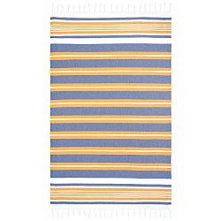 Rkyer Boys Club kék-narancssárga hammam fürdőlepedő, 180 x 100 cm - Begonville
