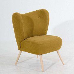 Sari Velur sárga fotel - Max Winzer