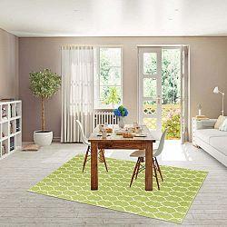 Trellis zöld fokozottan ellenálló szőnyeg, 133 x 190cm - Floorita