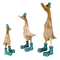 Vigo Green 3 darabos kacsa formájú dekoráció készlet bambuszból - House Nordic