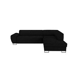XL Right Corner Sofa Puro fekete kinyitható sarokkanapé tárolóhellyel - Kooko Home