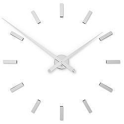 Future Time FT9100SI Modular chrome Dizájner öntapadó óra, átmérő: 85 cm