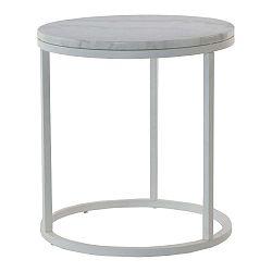 Accent márvány tárolóasztal szürke vázzal, Ø 50 cm - RGE