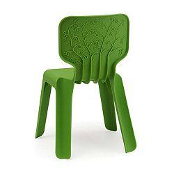 Alma zöld rakásolható gyermekszék - Magis