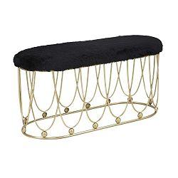 Amelia fekete párnázott pad aranyszínű, vas konstrukcióval - Mauro Ferretti