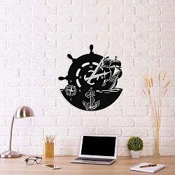 Anchor Clock V2 fekete fém falióra, 48 x 50 cm