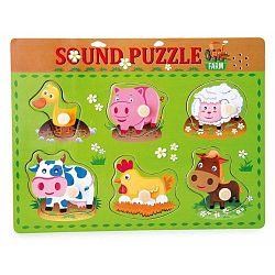 Animal fa puzzle állathangokkal - Legler