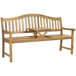 Bailey barna kerti ülőpad akácfából asztalkával - Safavieh