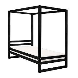 Baldee fekete fa egyszemélyes ágy, 190 x 90 cm - Benlemi