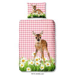Bambi gyermek ágyneműhuzat garnitúra tiszta pamutból, 140 x 200 cm - Good Morning