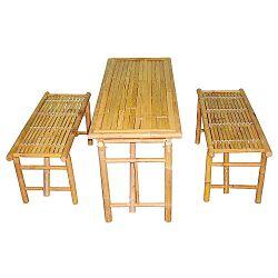 Bambusz asztal szett, két paddal - Karlsson