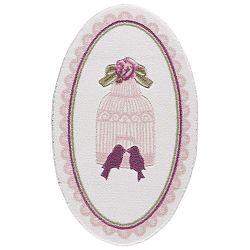 Bathmats Birdcage világos rózsaszín fürdőszobai szőnyeg, hossza 133 cm - Confetti