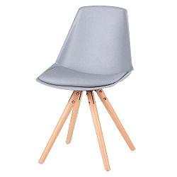 Bella 4 db szürke szék, bükkfa lábakkal - sømcasa