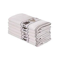 Beyaz Asci 6 darabos bézs pamut törölköző szett, 30 x 50 cm