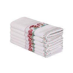 Beyaz Muhna 6 darabos bézs pamut törölköző szett, 30 x 50 cm