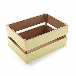 Bézs tároló doboz, 34 cm - Versa