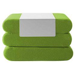 Bingo Felt Melange Green zöld kinyitható puff - Softline