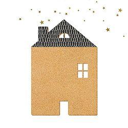 Black House With Stars dekoratív üzenőtábla, 57 x 40 cm - Dekornik