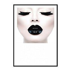 Black Lady Head keretezett plakát, 30 x 20 cm - Piacenza Art