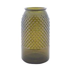 Bolt zöld újrahasznosított üveg váza, ⌀ 18 cm - Mauro Ferretti