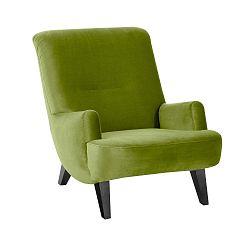 Brandford Suede zöld fotel fekete lábakkal - Max Winzer