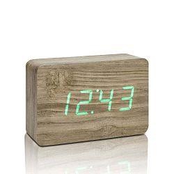 Brick Click Clock világosbarna ébresztőóra zöld LED kijelzővel - Gingko