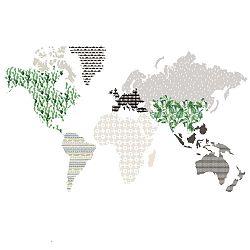 Brown Map falmatrica, 150 x 90cm - Dekornik