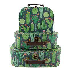 Cactus háromrészes bőrönd szett gyerekeknek - Sass & Belle