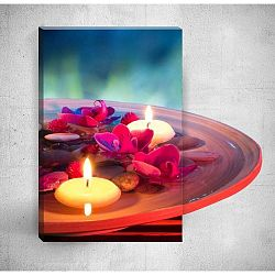 Candles With Flowers 3D fali kép, 40 x 60 cm - Mosticx